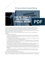 Find the Wining 03 Tips to Federal Proposal Writing