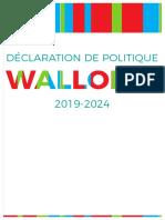 Déclaration de Politique pour la Wallonie 2019 -2024