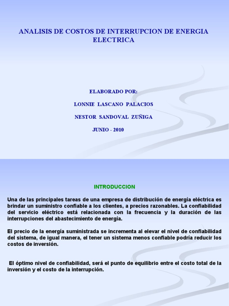 PRESENTACION COSTO INTERRUPCION 1