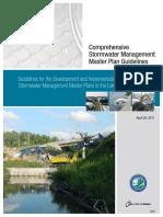 Comprehensive Storm water Management Master Plan Guideline