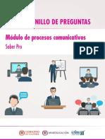 Cuadernillo de Preguntas Procesos Comunicativos Saber Pro 2018