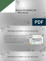 Estrategias de Entrada y Salida, Estrategias de Diseño de Procesos UII