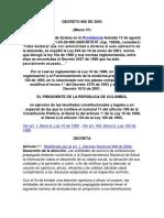 Decreto 800 Regla. Ley 100