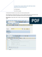 SAP ENhancements