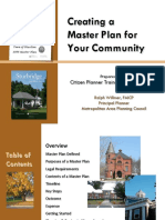 Creating a Master Plan