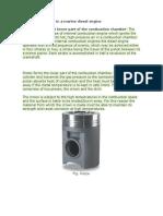 Function of Piston in a Marine Diesel Engine
