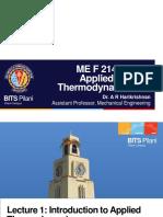 Thermodynamics Lecture BITS Pilani