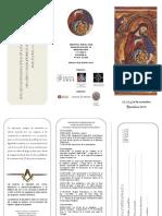 Masonería - Tríptico I Encuentro  Internacional de Logias de Inv. 2010