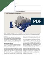 Mep Multi Effect Plate Evaporator Datasheet