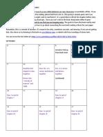 p p reading schedule 2019-2020