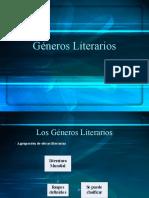 Los géneros y subgéneros literarios