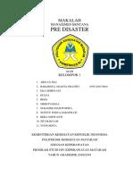 Manajemen Bencana Pre Disaster