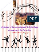 Arr. 116 Arrangements of Baroque Classical Ballet Pieces for Piano Solo