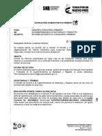 Instrucción Administrativa 06 de Marzo 07 de 2018