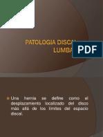 patologia discal lumbar