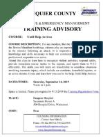 Until Help Arrives Training Sept. 14, 2019
