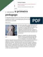 Platão pedagogo