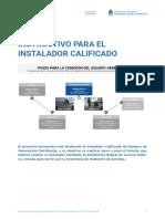 Instructivo Para El Instalador Calificado