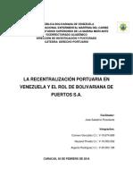 Recentralización portuaria en Venezuela y el rol de Bolipuertos S.A.