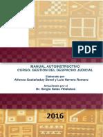 Autoinstructivo sobre gestión del despacho judicial