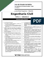 Fgv 2014 Al Ba Tecnico de Nivel Superior Engenharia Civil Prova