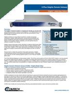 Comtech/EFData H-Plus Heights Remote Gateway Datasheet