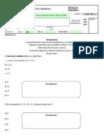 Prueba de Lenguaje Algebraico