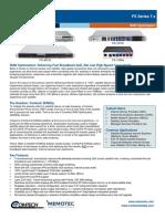Comtech/EFData FX Series 7.x WAN Optimization Datasheet