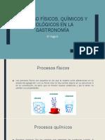 Proceso Físicos, Químicos y Biológicos en La Gastronomia