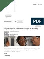 Project Engineer - Mechanical Design(CATIA_CREO)