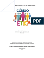 Ensayo Sobre El Codigo de Etica Del Administrador de Empresas-1