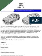 Volvo Manual s40/v40_2001