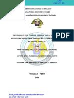CALIDAD DE SERVICIOS EN LOS RECREOS CAMPESTRES DEL VALLE DEL CHUMBAO, ANDAHUAYLAS – 2015