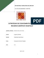 EXTRATEGIAS DE CONOCIMIENTOS DE LOS RECURSOS GENÉTICOS VEGETALES