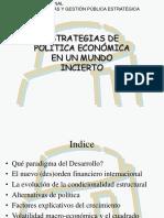 Estrategias de politica economica