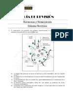 Guía de Revisión Hormonas y Homeostasis-Sistema Nervioso