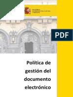 Politica de Gestion del Documento Electrónico
