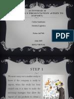 """Actividad 15 Evidencia 8 Presentation """"Steps to Export"""""""