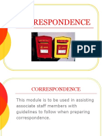 Correspondence Module Revised 101911
