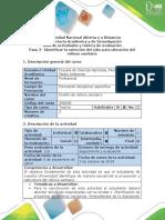 Guía de actividades y rúbrica de evaluación - Paso 2- Identificar la selección del sitio para ubicación del relleno sanitario
