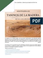 Qué Son Los Taninos de La Madera y Cómo Solucionar Sus Efectos