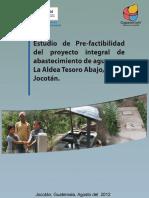 Pre Factibilidad El Tesoro, Jocotan