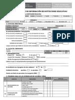 Ficha de Recojo de Información de Las Iiee Agp Ugel Pomabamba 2