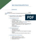 INFORME FISIOTERAPÉUTICO