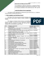 Instructions ITR 7 AY 2019-20