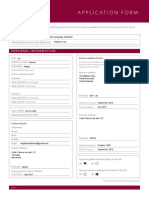 Spanish Language Assistant Application Form