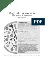 Reglas de Consistencias Entre Modelos de Requisitos de Un Método. Revista Universidad EAFIT