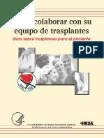Colaborar Con Equipo de Transplantes