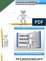 CONDUCTAS BÁSICAS DE APRENDIZAJE