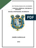 Diseño Curricular Derecho